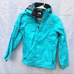 North Face aqua windbreaker large coat jacket teal